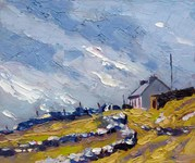 """On My Way to Achill Beg"" - 30.5cm. x 25.5cm."